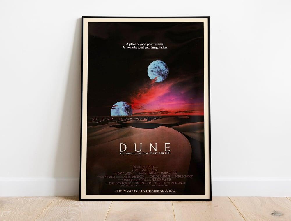 Dune (1984) - David Lynch Retro Sci-Fi Movie Poster