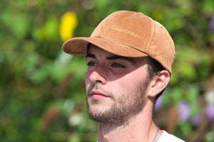 Image of Knatchbull Classic Logo embroidered corduroy cap.