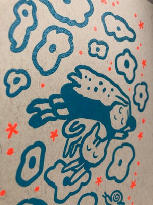 4 Different Thermograph Embossed Risograph Prints