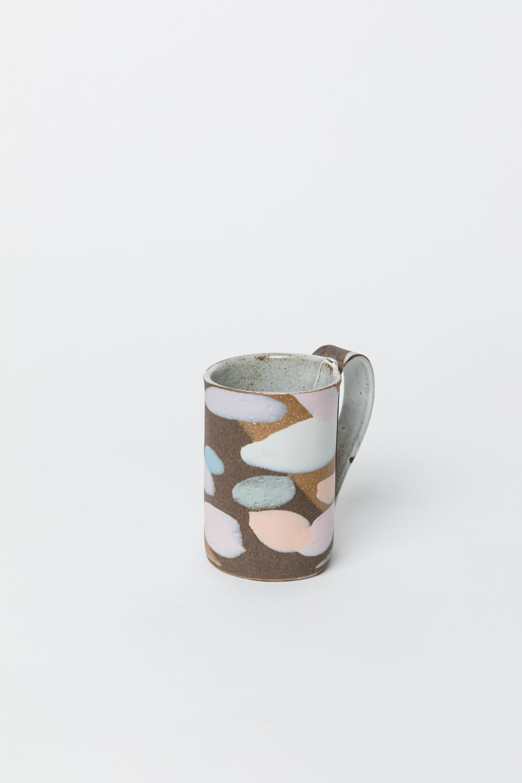 Image of Tall Mug - Dark Brown Pastel Camo