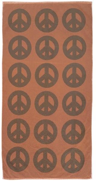 Image of PEACE Towel <div> Color: Copper & Stone</div>