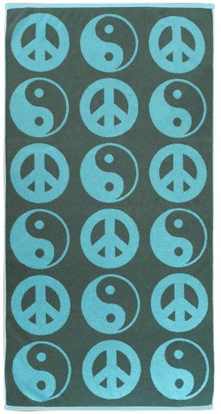 Image of YIN YANG Towel <div> Color: Ocean & Forest</div>