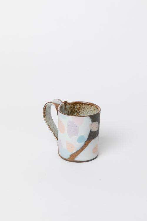 Image of Dark Brown Pastel Camo - Regular Handled Mug