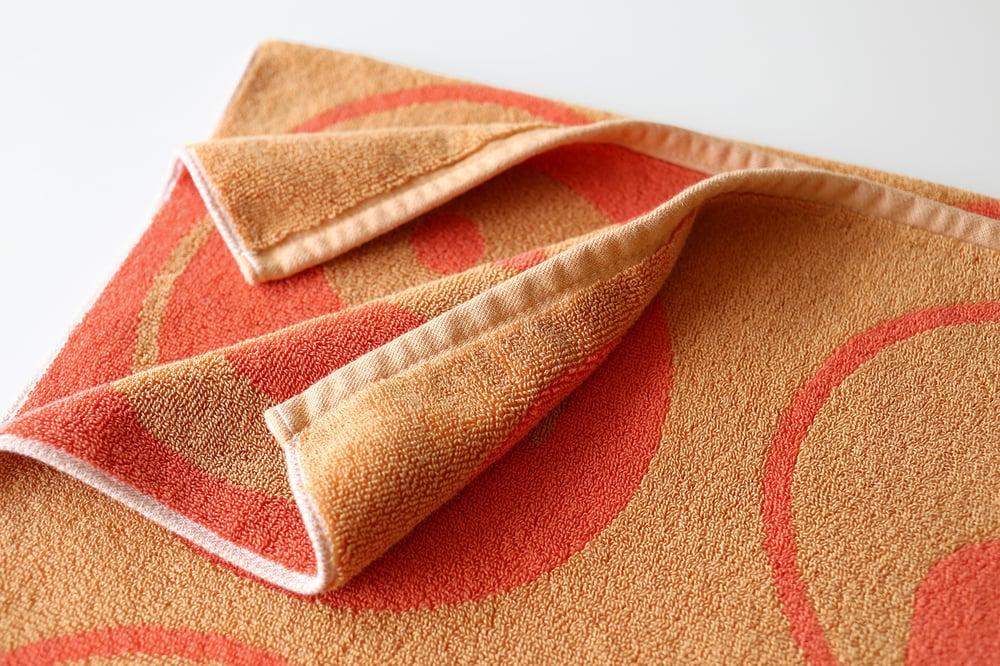 Image of YIN YANG Towel <div> Color: Orange & Coral</div>