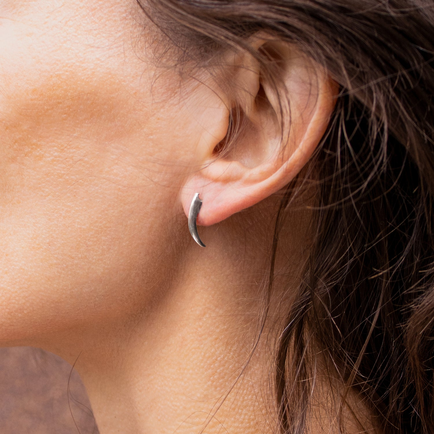 Image of Silver Icelandic Owl Claw Stud Earring