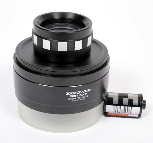 Image of Kenko MC 3X 6X7 loupe magnifier slide negative ground glass clear/black