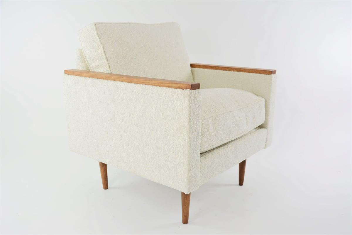 Image of Fauteuil cube ivoire