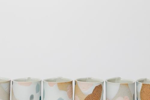 Image of Toasty Tropical Ocean Handleless Mugs