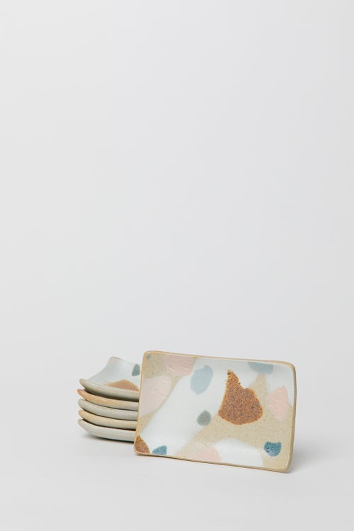 Image of Toasty Tropical Ocean Large Inlay Soap Dish / Spoon Rest