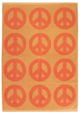 Image of KID PEACE Towel <div> Color: Orange & Coral</div>