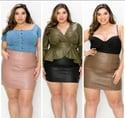 Rebecca Faux Leather Skirt (black)