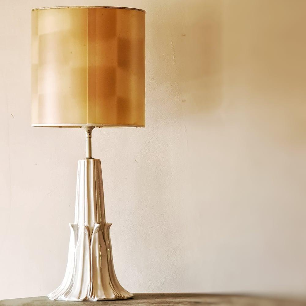 Ancienne lampe en céramique circa 1950