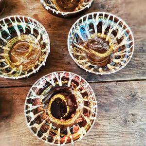 """Série de 6 bols en céramique artisanale """"chocolate"""""""