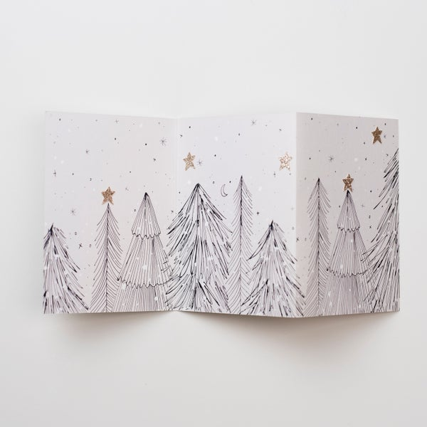 Image of Concertina Hand Finished Card