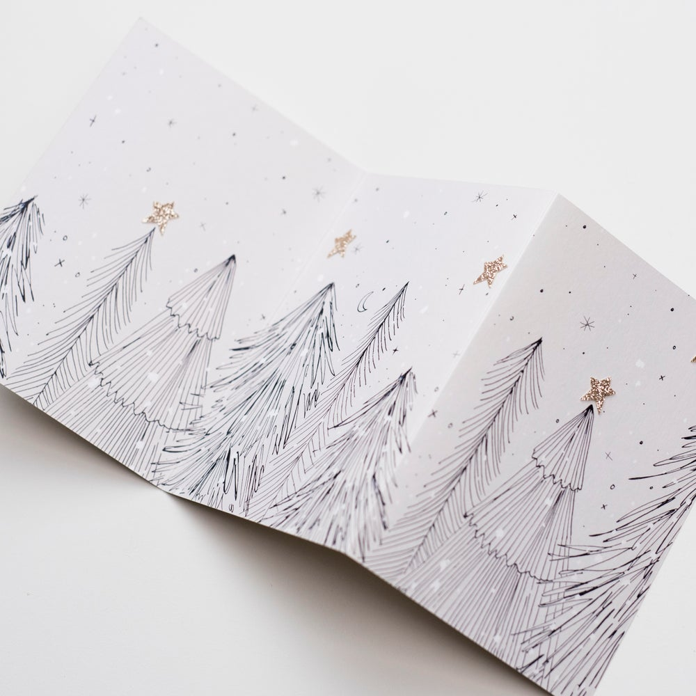 Image of Pack of 6 Concertina Hand Finished Cards