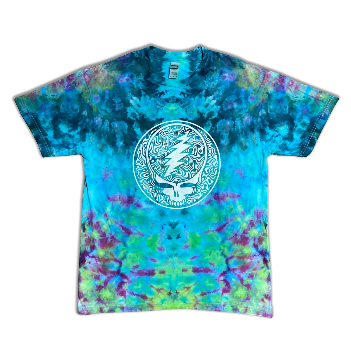 Ice Dyed Tee with print - Size Large