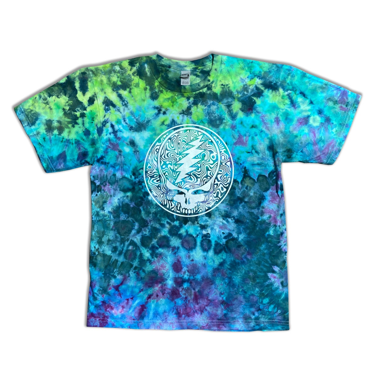 Ice Dyed Tee with print - Size Large 1