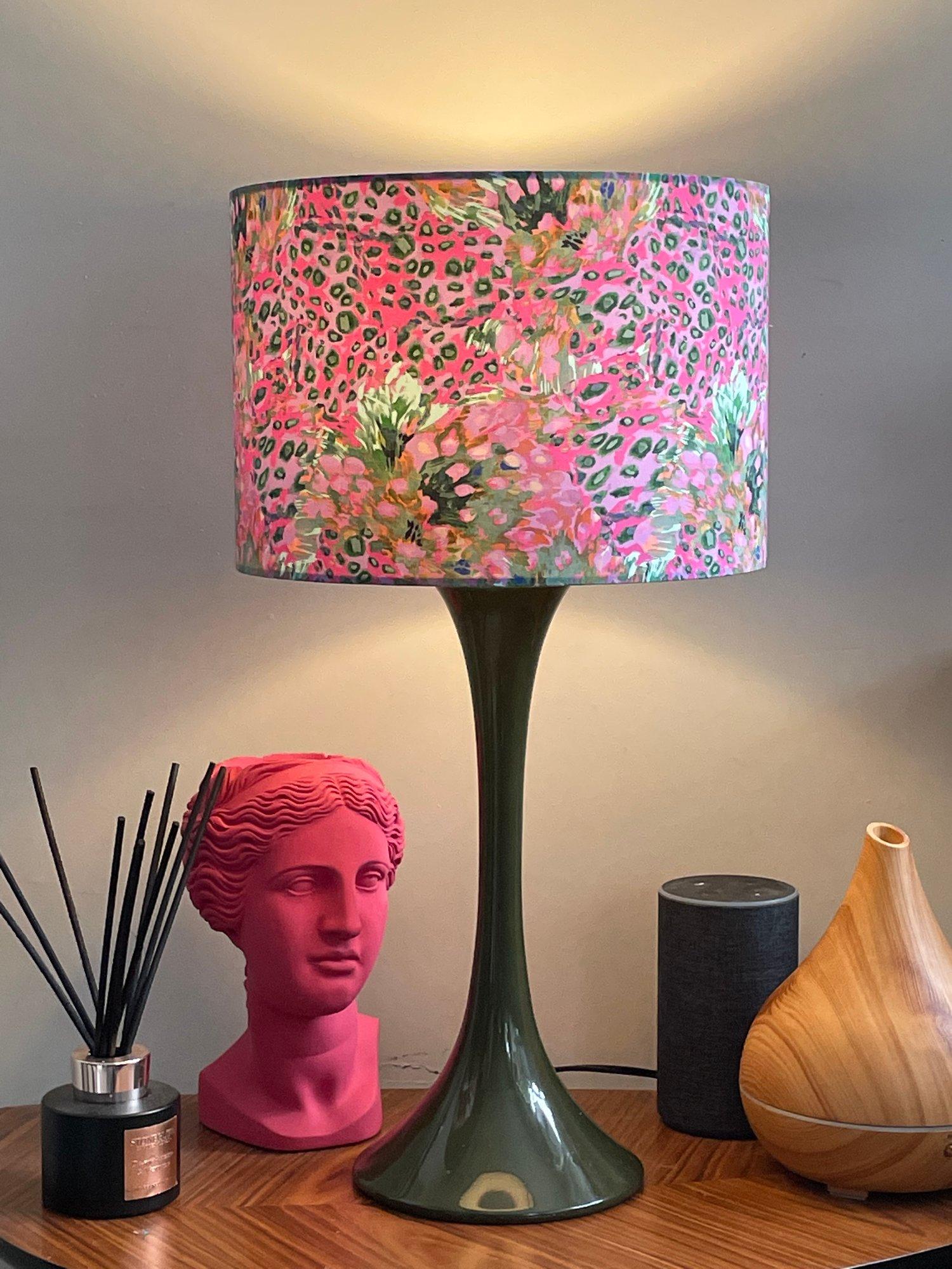 Image of Lush & Wild Cheetah Flowers Pink/Aqua Shade 30cm