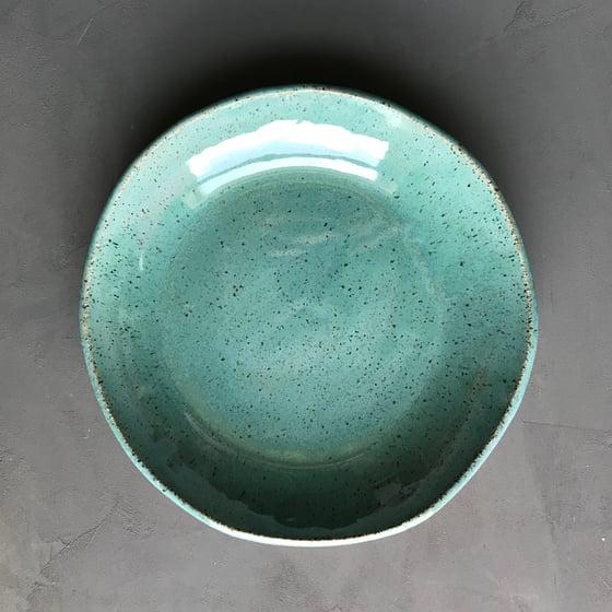 Image of 4 Seafoam glossy bowls
