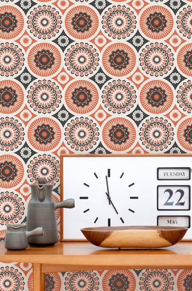 Image of Darjeeling Wallpaper - Harvest Orange
