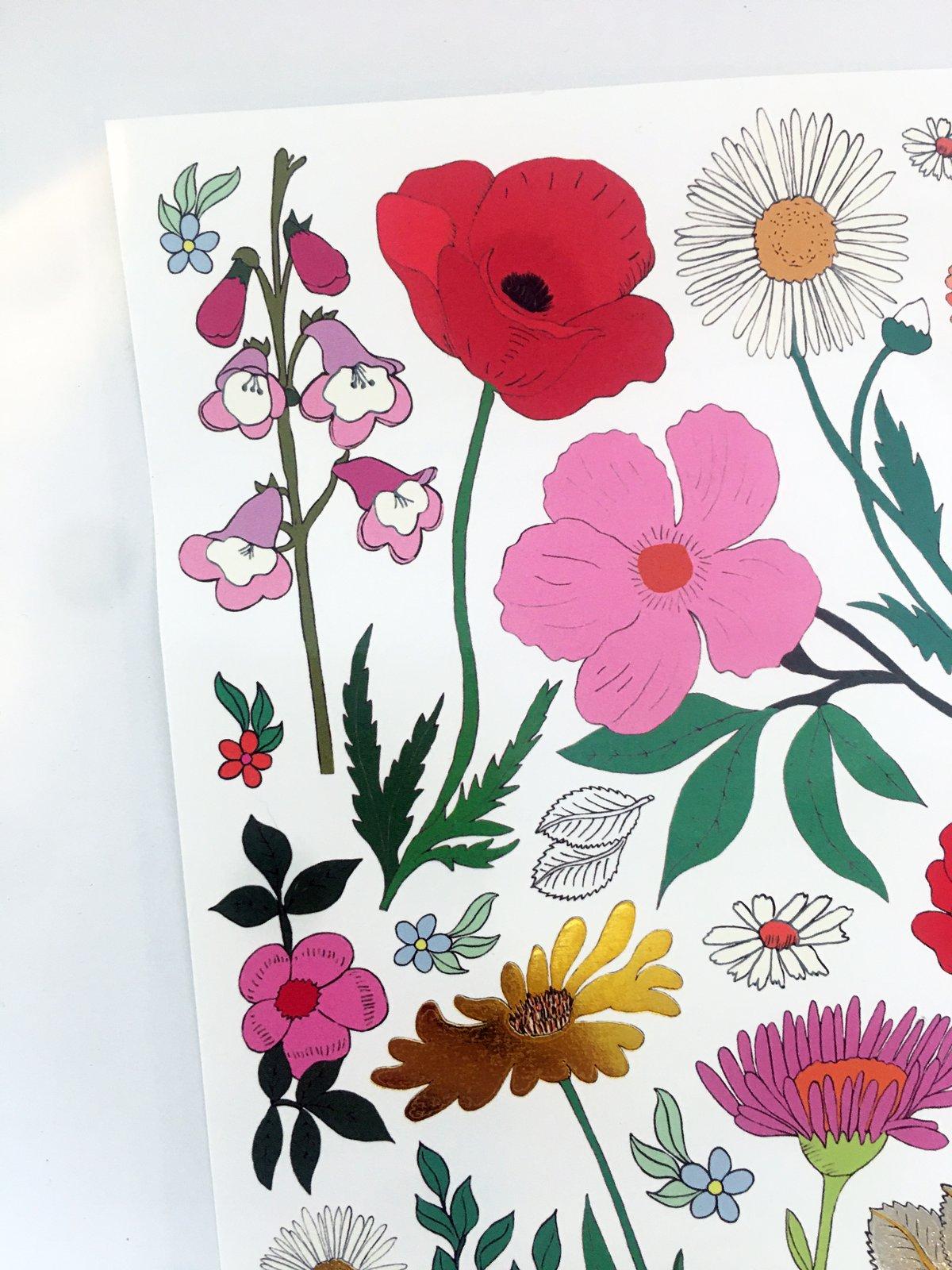 **NEW** Flowers A5 Temporary Tattoos