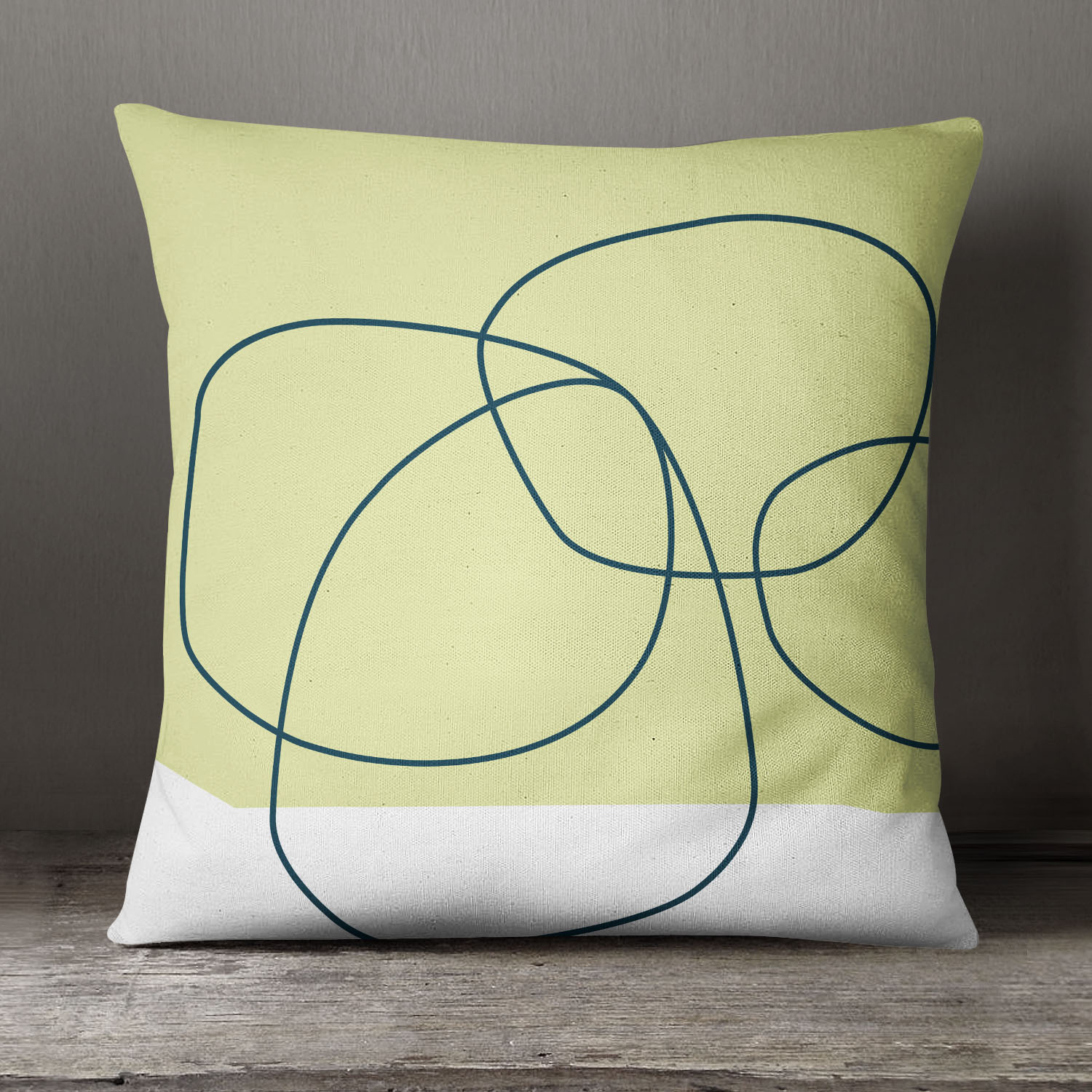 Image of Rock Garden No. 3 Square Throw Pillow in Light Yellow