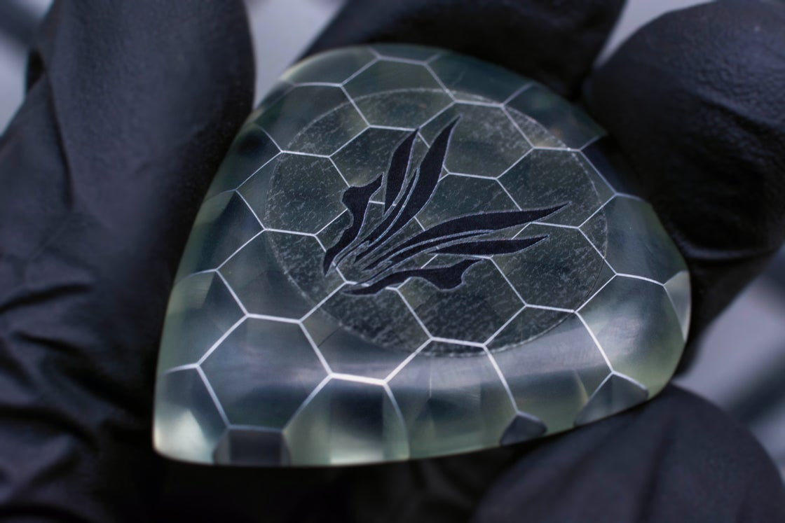 Image of Limited Edition: 9mm 'Transparent HONEYCOMB' plectrums