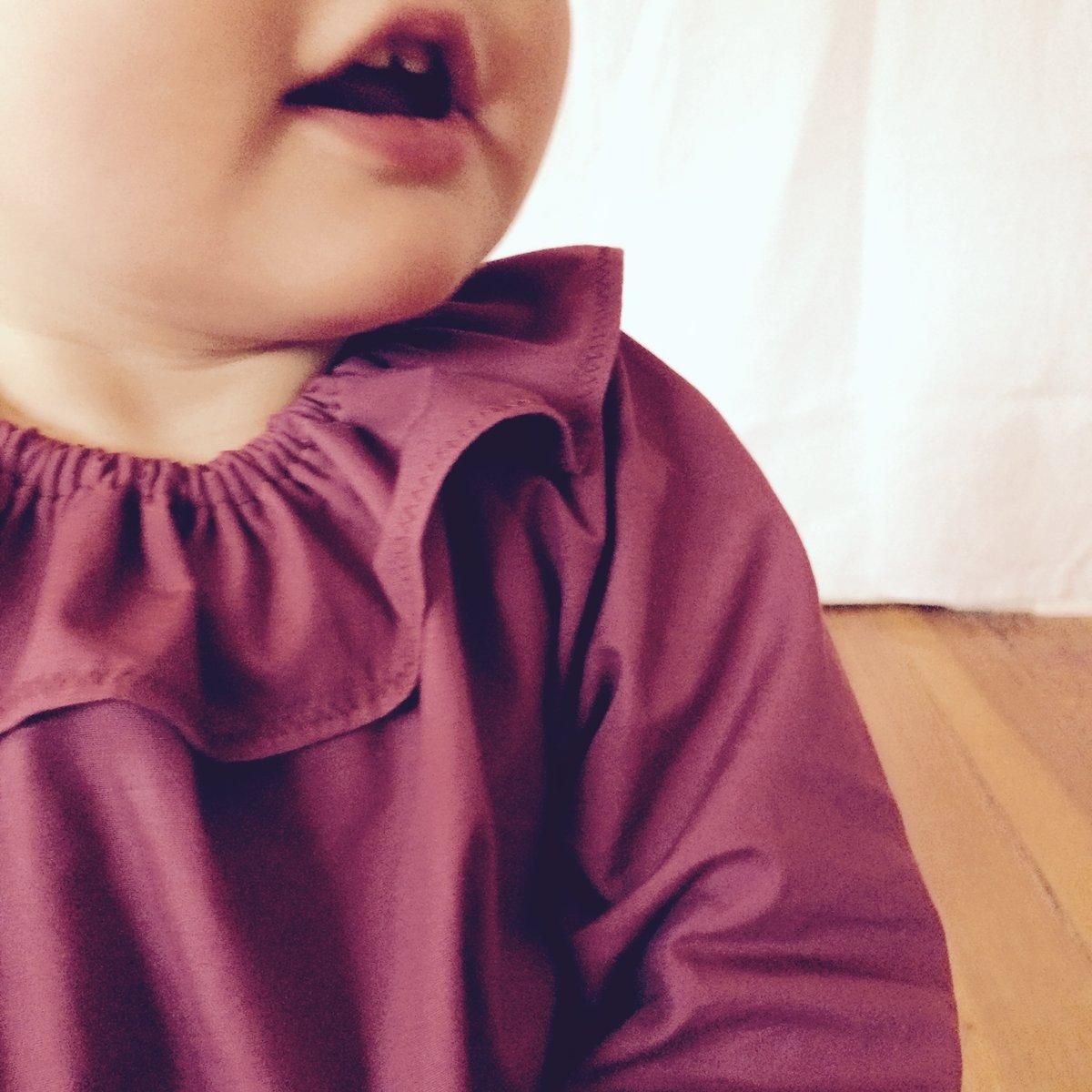 Mavie Bluse- berry popeline