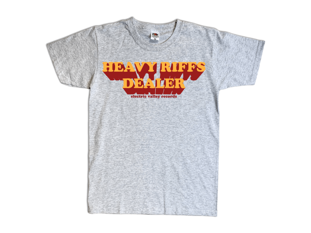 Image of Heavy Riffs Dealer T-shirt (Grey)