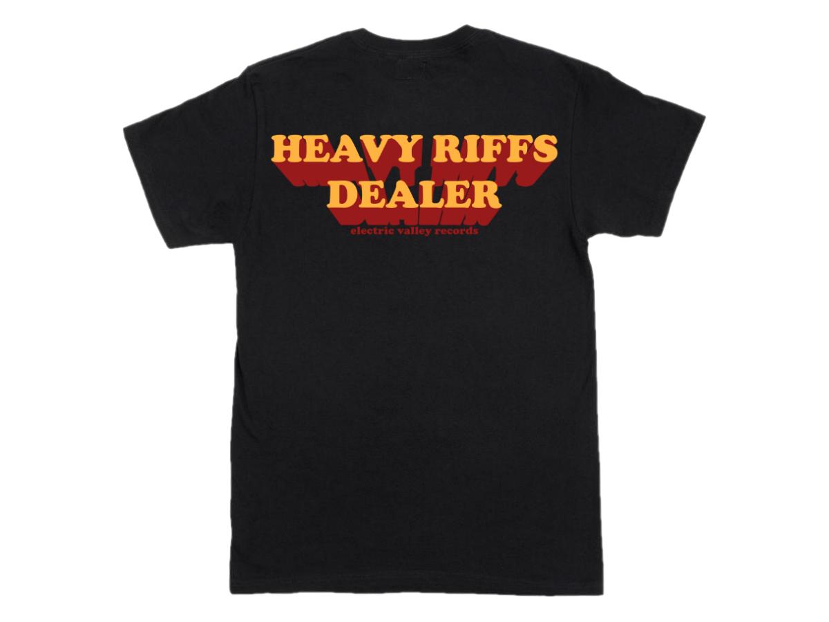 Image of Heavy Riffs Dealer T-shirt (Black)