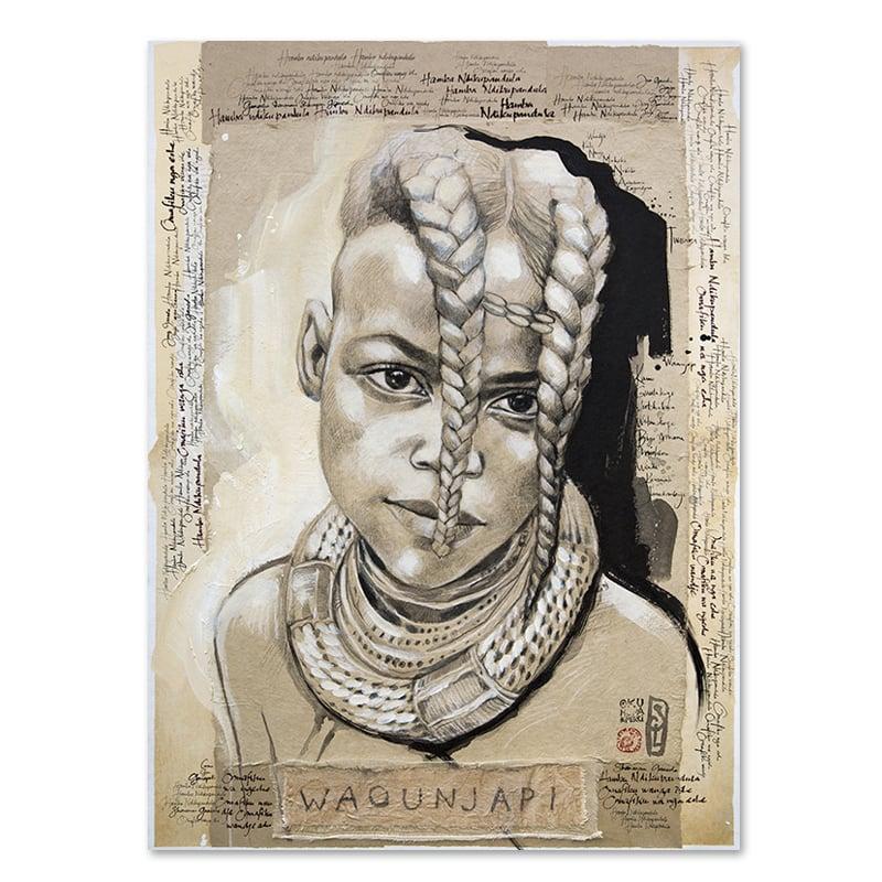 """Image of Original painting - """"Waounjapi"""" - 73x100 cm"""