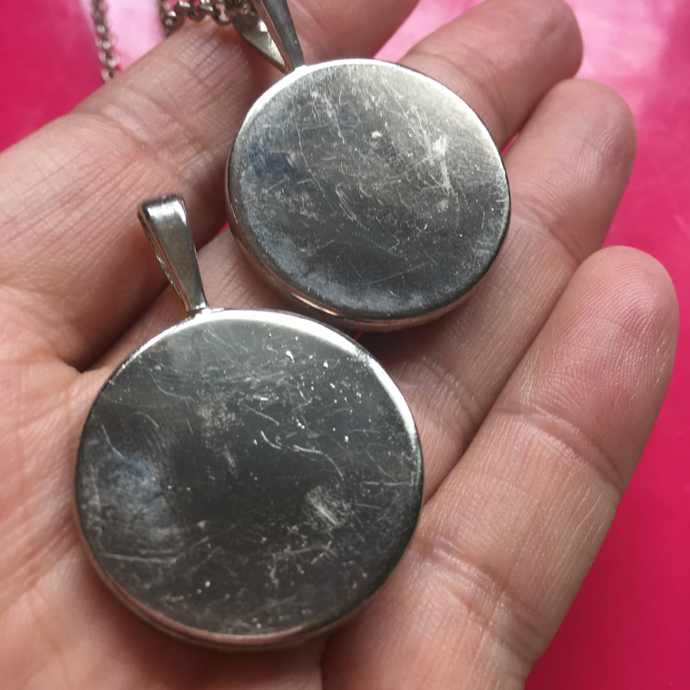 Midnight Rocks Silver Round Pendant -  ON SALE - WAS £28 NOW £17