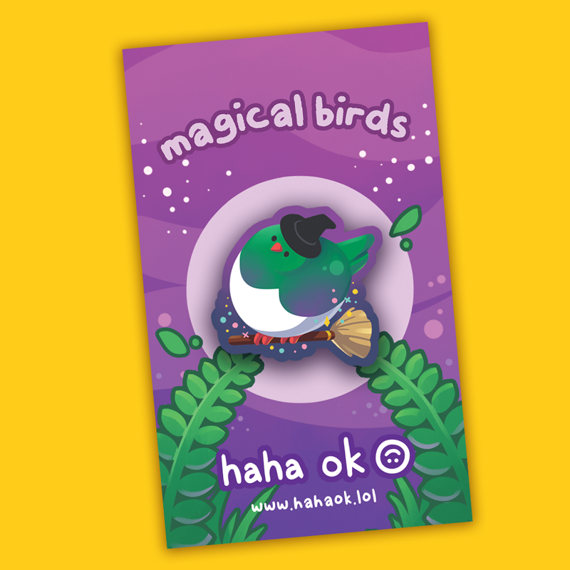 Image of Magical Birds Wooden Pins
