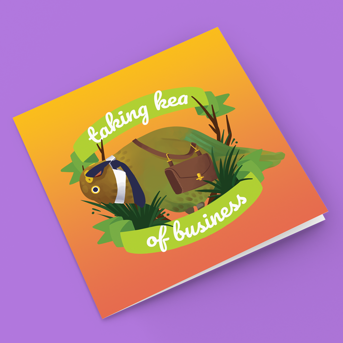 Image of Taking Kea Of Business - Greeting Card