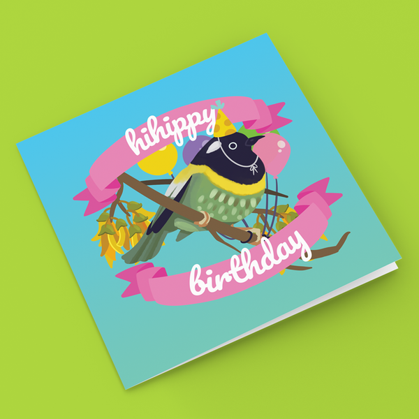 Image of Hihippy Birthday - Greeting Card
