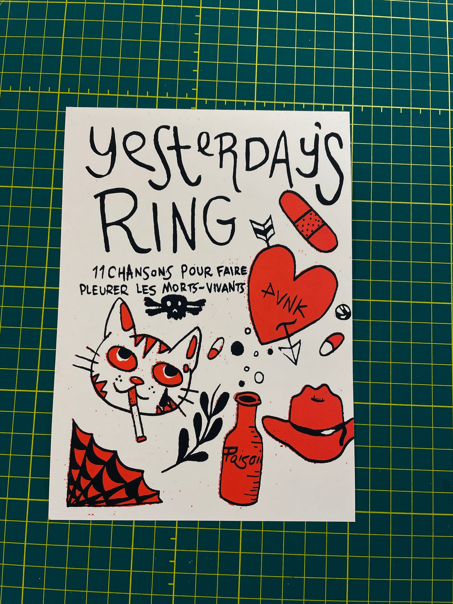 """Image of Yesterday's Ring """" 11 Chansons... """" Sérigraphie  Limité à 75"""