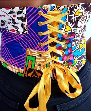 Image of TALLULAH AFRICAN PRINT CORSET TOP