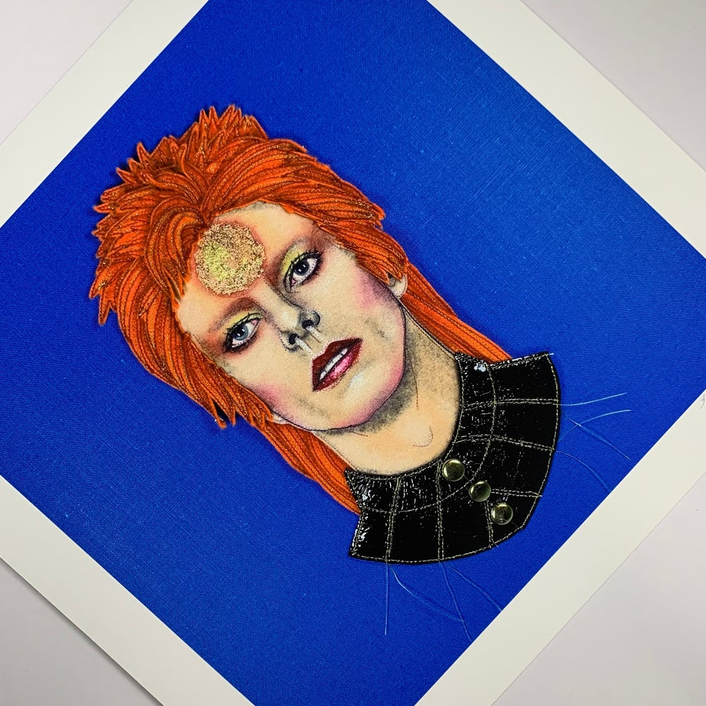 'Ziggy Stardust' Print by Jane Sanders (Signed Limited Edition)