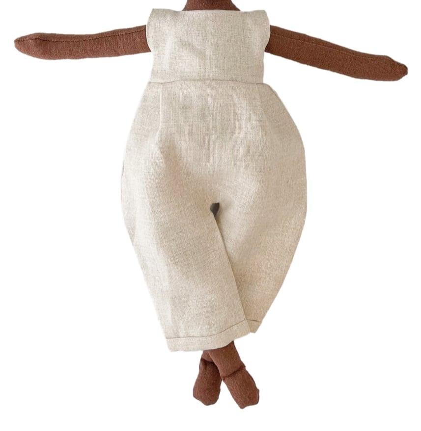 Natural linen one piece jumper (Waitlist Preorder Item - ship date Oct 1-Mar 30,2022)