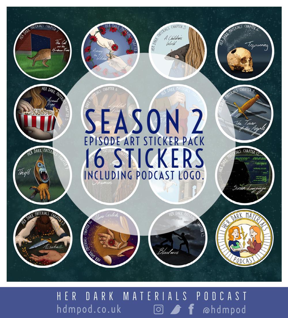 Image of Her Dark Materials Podcast Season 2 Artwork Sticker Pack
