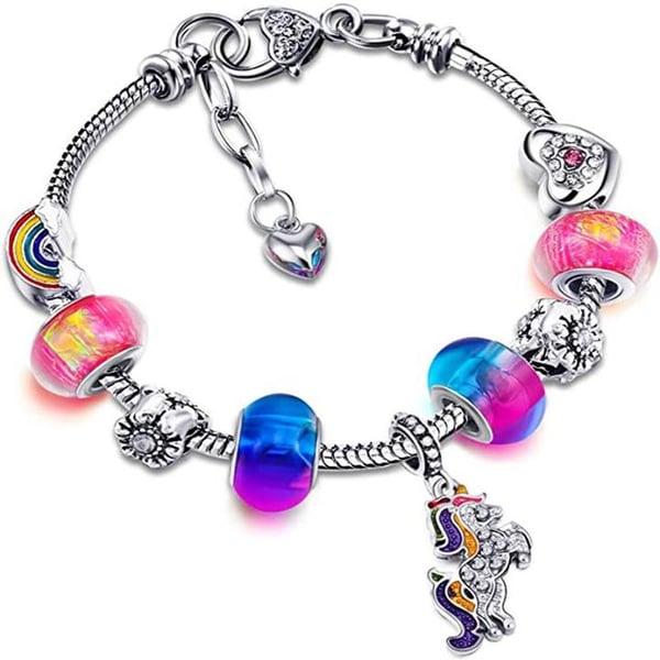 Image of Beaded Unicorn Bracelet