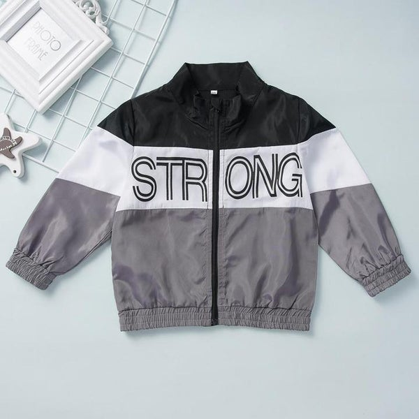 Image of STRONG Letter Zipper Jacket