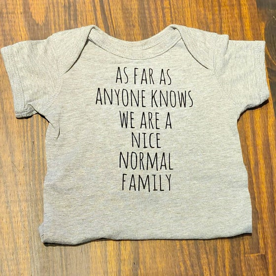 Image of Nice Normal Family Cotton Onesie