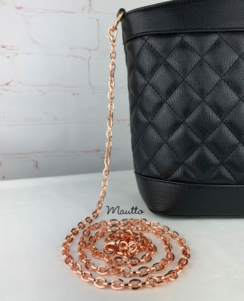 """Image of Rose Gold Chain Strap - Mini Elongated Box Chain - 1/4"""" (7mm) Wide - Top Handle to Crossbody Lengths"""