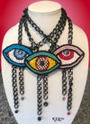 """""""Eye See You"""" Evil Eye Necklace in Blue"""