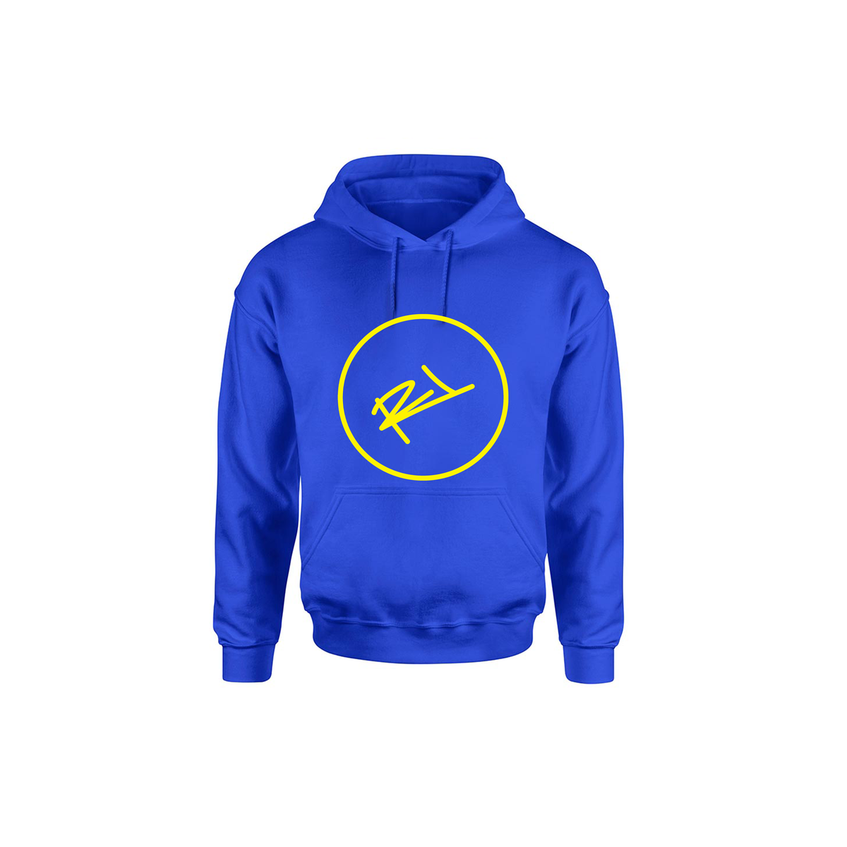 Image of ROYAL BLUE & YELLOW ReL LOGO TOWN COLLECTION HOODIE