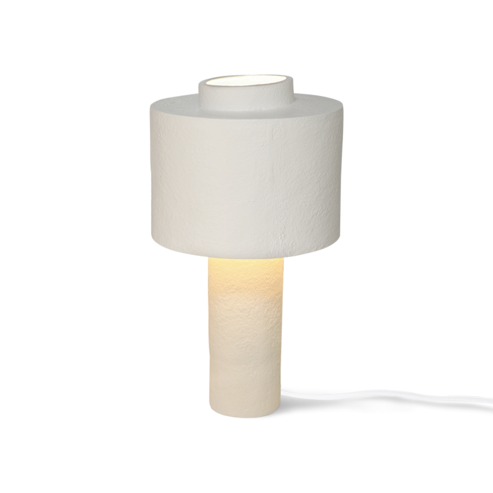 Image of Gesso matt white table lamp by HKliving