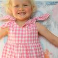 Rabbit Dress-pink check