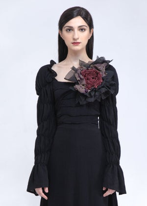 Image of  SAMPLE SALE -  Large Handcrafted Roses Accessories In Ruby