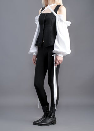 Image of  SAMPLE SALE - Lace Up Sleeves & Gloves White